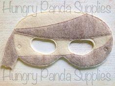 Mummy Mask Embroidery Design, mummy mask, machine embroidery, ITH mask, in the hoop mask, embroidery mask, 5x7, 6x10, halloween costume