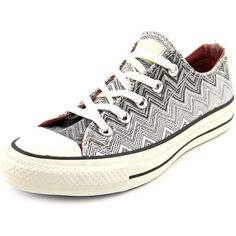 Converse Missoni CT Ox Women Sneakers (70 CAD) ❤ liked on Polyvore featuring shoes, sneakers, white, converse trainers, synthetic shoes, canvas shoes, canvas sneakers and converse shoes