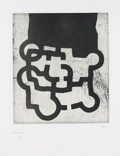 Eduardo Chillida Homenaje a Sir Roland Penrose, Etching on Rives BFK with Japanese paper. Plate size: H x W. Sheet size: H x W. Edition of 133 copies. Roland Penrose, Abstract Words, Action Painting, Sculpture Painting, Sculptures For Sale, Spanish Artists, Japanese Paper, Art File, 2d Art