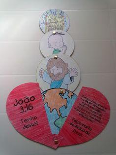 EBD Infantil: Ensinando para transformar vidas!: Junho 2011 Preschool Bible Lessons, Bible Activities For Kids, Bible Crafts For Kids, Bible Study For Kids, Bible Lessons For Kids, Vbs Crafts, 3d Paper Crafts, Church Activities, Children's Church Crafts