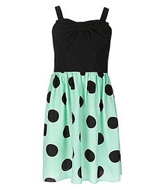 Ruby Rox 716 BowFront LargeDotSkirt Dress #Dillards
