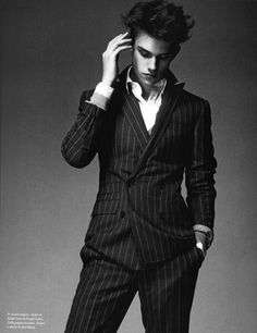 Men's double breasted pinstripe suit