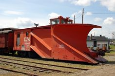 Canadian National Railway Snow Plow No. 55436 at Prince George, BC, Canada Snow Vehicles, Canadian National Railway, Old Steam Train, Railroad History, Abandoned Train, Electric Train, Old Trains, Train Engines, Snow Plow