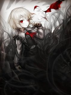 This art is not mine and the artist is unknown. Crz I found out who painted this. Dark Anime Girl, Manga Anime Girl, Anime Oc, Fanarts Anime, Kawaii Anime, Anime Devil, Anime Angel, Cute Anime Character, Character Art