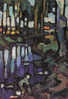 La Mauldre à Beynesvers1910 - Les arbres - Frédéric FIEBIG