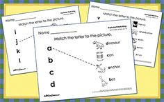 Have your child practice letters with our Preschool Alphabet Matching Printables, now geared towards children just beginning to learn letters of the alphabet.