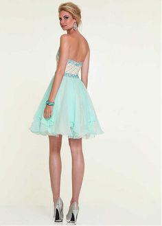 Chic Chiffon & Organza Sweetheart Neckline Knee-length Homecoming Dress