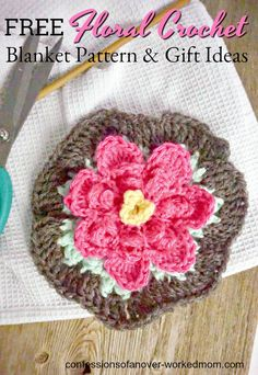 Floral Crochet Blanket Patterns for Crochet Gift Ideas Easy Knitting, Knitting For Beginners, Crochet Gifts, Free Crochet, Crochet Granny, Crochet Blanket Patterns, Knitting Patterns, Bead Crafts, Crochet Flowers