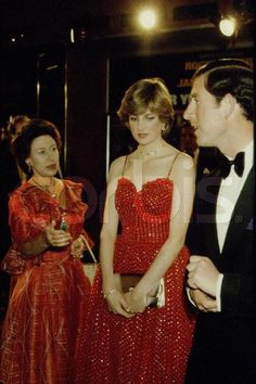 Lady Diana & Prince Charles and Princess Anne.