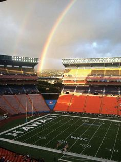 """Aloha Stadium, home to the University of Hawaii """"Warriors"""" football team, is located in the center of Oahu, in Aiea.  It also hosts the NFL Pro Bowl each year!"""