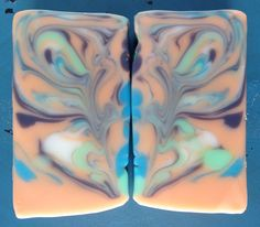 Hedonic Tonic cold process soap. Butterfly swirl