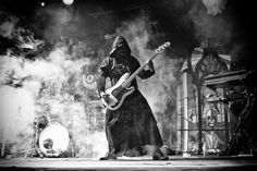 This is an incredibly cool shot of the Ghoul Bassist. Ghost and Witchgrinder @ The Hi-Fi, Melbourne 22/01/2014 | Metal Obsession