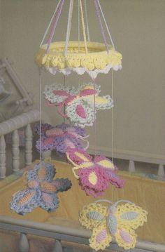 Butterfly Mobile Crochet Pattern