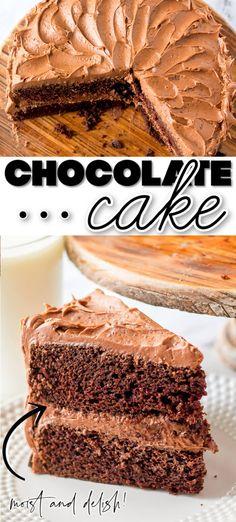 Easy Cake Recipes, Cupcake Recipes, Baking Recipes, Dessert Recipes, Chocolate Cake From Scratch, Best Chocolate Cake, Cupcakes, Cupcake Cakes, Fun Desserts