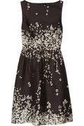 J.CREW  Floral-print silk-blend shantung dress