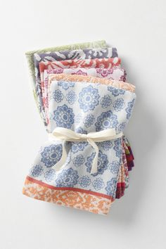 I love these mismatched napkins. They are perfect for entertaining.