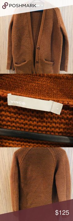 Vince sweater Vince sweater in burnt orange size small Worn condition Vince  Sweaters Cardigans efd9b3a293