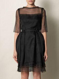 Silk Organza Tulip Skirt Dress