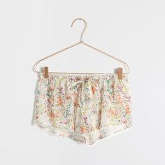 Calções estampado flores - Mulher - Loungewear   Zara Home Portugal