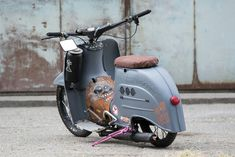 Scooter Motorcycle, E Scooter, Motor Scooters, Vespa Scooters, Vintage Motorcycles, Cars And Motorcycles, Quad, Custom Moped, Old Bikes