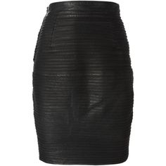 Pre-owned Versace Vintage ribbed pencil skirt (2.195 BRL) ❤ liked on Polyvore featuring skirts, versace, faldas, black, high waist knee length pencil skirt, pencil skirt, vintage leather skirt, high waisted short skirts and high-waisted pencil skirts