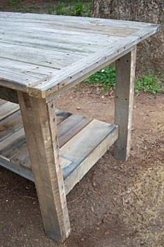 $2 Farmhouse Table | Do It Yourself Home Projects from Ana White http://ana-white.com/2011/04/2-farmhouse-table