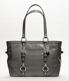 COACH PATENT GALLERY TOTE - STYLE 10380M - Grey Discount Coach Purses 0c1aa2f29fe46