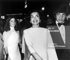 Jackie Onassis, Caroline And John F Kennedy Jr