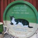<3 Tää retro kissatarjotin Hanneles-verkkokaupasta mulle joo!