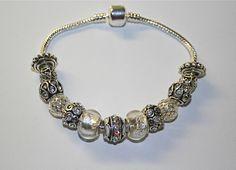 April Rhinestone Birthstone Charm Bracelet #European