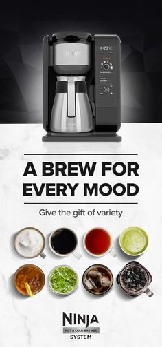 With the Ninja Hot & Cold Brewed System™, you can make fresh, cold-brew and authentic iced coffee and tea in as little as 10 minutes, as well as Ninja® coffee favorites like frothy specialty drinks, and classic or rich-strength coffee and tea - it makes t Iced Coffee, Coffee Drinks, Coffee Shop, Coffee Lovers, Croissants, Scones, Tea Brewer, Ninja Coffee, Coffee Is Life