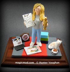 Christmas Gift for a Girlfriend by www.magicmud.com 1 800 231 9814 creating a custom made gift figurine for any woman based on the things she likes to do! ...incorporating her work, sports, family, hobbies, food, drink, shopping, etc. $225 #vet #veterinarian #mom #mother #momsgift #wife #christmas #birthday #anniversary #custom #personalized #xmas #present #award #ChristmasGift #BirthdayGift #sister #girlfriend #aunt #BFF