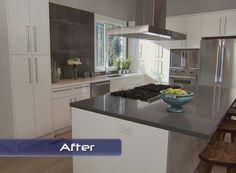 Grey Countertops shaker style cabinets and concrete gray quartz countertop