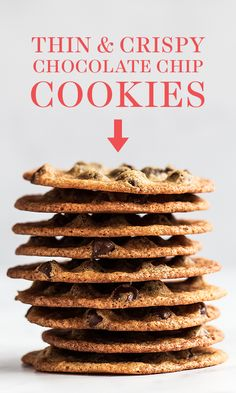 - BEST Thin and Crispy Chocolate Chip Cookies! This from easy from scratch recipe … BEST Thin and Crispy Chocolate Chip Cookies! This from easy from scratch recipe makes the yummiest homemade cookies. Thin Chocolate Chip Cookies, Chocolate Chip Oatmeal, Chocolate Chips, Crispy Chocolate Cookies Recipe, Chocolate Biscuits, Almond Cookies, Mint Chocolate, Cookies From Scratch, Desert Recipes
