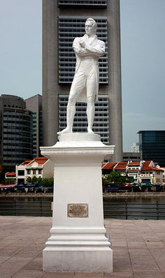 Sir stamford raffles statue singapore - Singapur