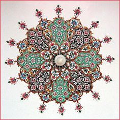 Pattern in the mosque at Golra near Islamabad in Pakistan.