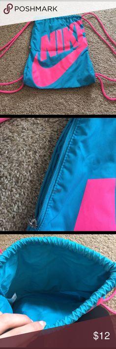 blue nike drawstring bag