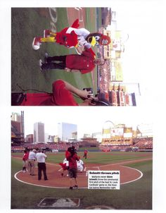 More photos of Steve Schmitt throwing out the first pitch for the St. Louis Cardinals