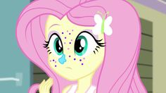 Image - Fluttershy covered in frosting and glitter EG2.png - My ...