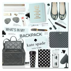 """""""Yes Please!"""" by justlovedesign ❤ liked on Polyvore featuring interior, interiors, interior design, home, home decor, interior decorating, Kate Spade, Smashbox, Ray-Ban and FusionBeauty"""