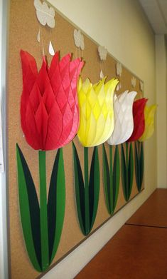 Giant paper tulips