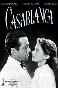 casablanca movie Critics Consensus: An undisputed masterpiece and perhaps Hollywoods quintessential statement on love and romance, Casablanca has only improved with age, boasting career-defining performances from Humphrey Bogart and Ingrid Bergman. Ingrid Bergman, Old Movies, Vintage Movies, Love Movie, Movie Tv, Movie Club, Casablanca Film, Cinema Paradisio, Movies To Watch Now