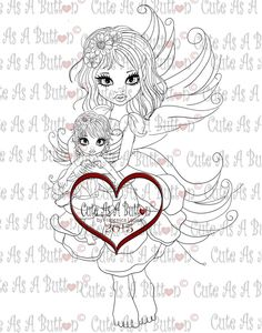 Cute As A Button Designs Digital by Francesca offers bible journaling images , digital digi stamps and clear rubber stamps for coloring and cards Fairy Coloring Pages, Adult Coloring Pages, Water Fairy, Creation Art, Types Of Craft, Illustrated Faith, Digi Stamps, New Art, Arts And Crafts