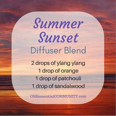 Best Summer Esssential Oil Diffuser Blends with FREE PRINTABLE-- recipes that smell like the beach, lemonade, a summer hike,…
