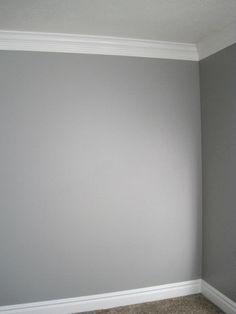 Grey Walls + White Moldings= perfect grey!!!
