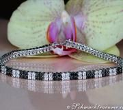 Klassisches Brillanten & schwarze Diamanten Armband image