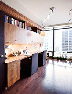 Yorkville, Home Office - contemporary - home office - toronto - Shelley Kirsch Interior Design and Decoration - Orchid tray