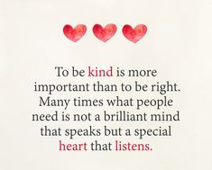 Be kind and show love towards others today.