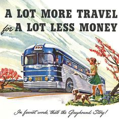 Detail Of Greyhound Autumn Wind Fall More Travel 1949 - Mad Men Art: The 1891-1970 Vintage Advertisement Art Collection
