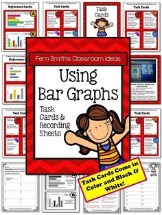 Using Bar Graphs Task Cards and Recording Sheet No Common Core Listings  {An additional resource for Go Math, Third Grade, Chapter One.} #TPT #NoCommonCore $Paid